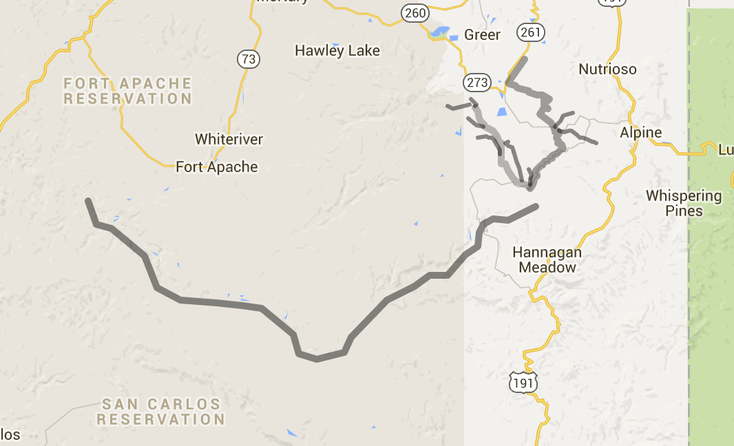 Interactive Map Of Arizona.Black River Interactive Map Hookedaz Arizona Fishing Community
