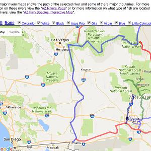 Map Of Arizona Rivers.Maps Hookedaz Arizona Fishing Community