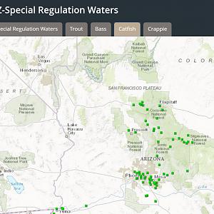 Arizona Fishing Map Maps | HookedAZ   Arizona Fishing Community